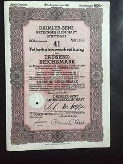 1942年德國平治車廠債券