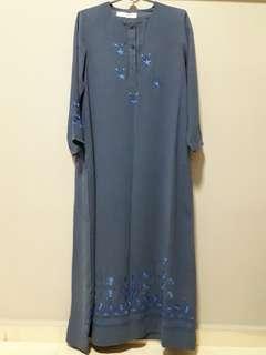 Greyish Blue jubah