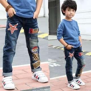 Classic Stars Long Jeans Boys Casual Pants Dark Blue