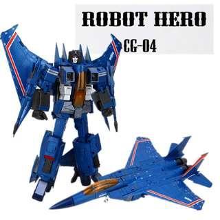 Thundercracker Starscream G1 Robot Hero CG-04 Airstrikes KO MP11T 🆓 post to WM