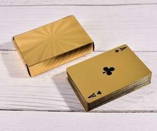 [Instock] Gold Poker Cards