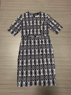 🚚 Zalora midi dress with cut out in prints