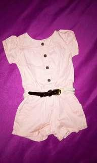 Jumpsuit peach baby girl impor