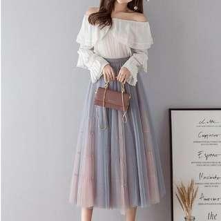 🚚 YF80457 新款網紗裙蓬蓬裙(3色)