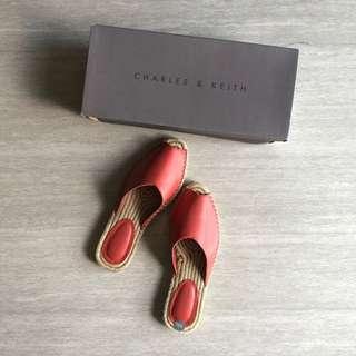 Charles And Keith Orange / Croal Espradilles Flats