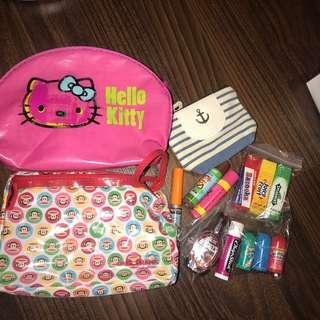 Assorted Pouches and a coin purse