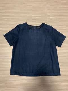 🚚 MDS suede boxy top