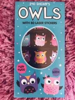 🚚 240 Mini Stickers <Owls>
