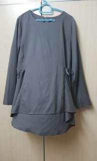 Grey top blouse
