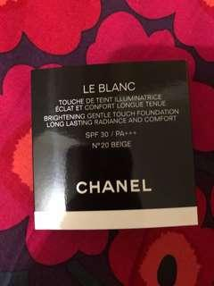 Chanel 最新氣墊粉餅 touch foundation spf 30 $30 包郵