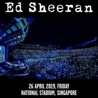 WTS cat 5 ed sheeran concert tickets