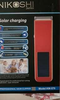 Hair clipper shaver rechargeable solar nikoshi