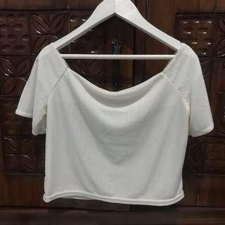 White bkk crop top