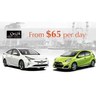 BRAND NEW Toyota Prius Hybrid / Prius C for Rent / Lease