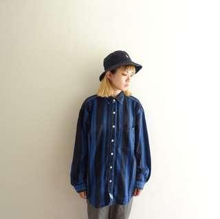 🚚 藍黑直條紋單寧牛仔襯衫🔥賣場商品任選兩件9折 三件85折🔥