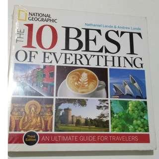 The 10 Best of Everything By National Geographic Buku Impor Travelling