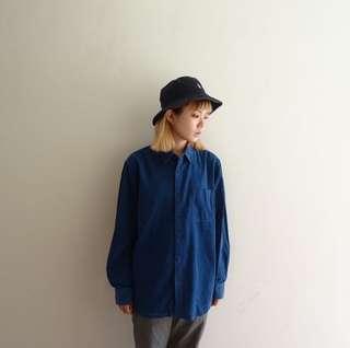 🚚 鈷藍色燈芯絨襯衫🔥賣場商品任選兩件9折 三件85折🔥