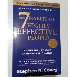 The 7 Habits of Highly Effective People by Stephen R Covey Buku Impor