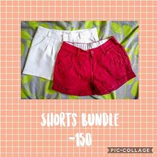RED & WHITE SHORTS BUNDLE