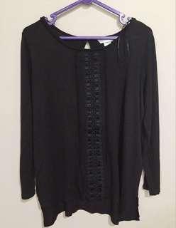 H&M shirt black