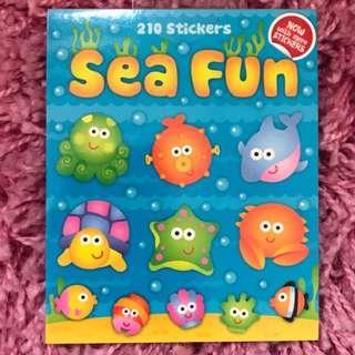 🚚 210 Mini Stickers <Sea Fun>