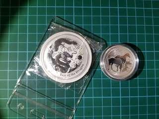 2oz&1/2oz silver coin