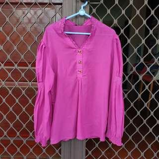 [FREE ONG] Blouse baju ungu