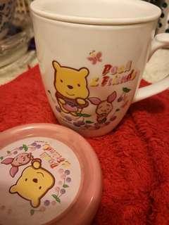 小熊維尼隔茶水杯連蓋