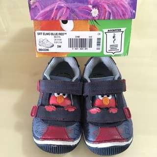 👣STRIDE RITE👣 Authentic Boys' Sesame Street Elmo Leather Toddlers/ Children/ Kids Sneakers/ Shoes (Size: US5/ UK4.5/ EUR21)