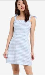 Zalora Dress Tie Blue and White
