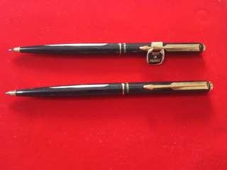 🚚 Vintage parker gold ballpen and mechanical pencil