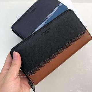 💯Ori Coach Men Long Wallet