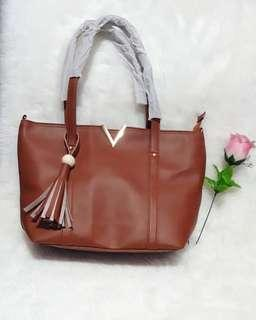 Tote bag V brown