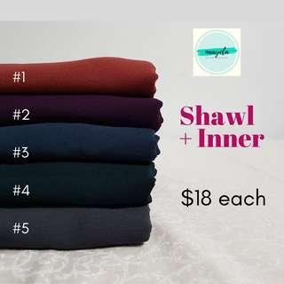 Shawl + Inner (2-in-1 Shawl)