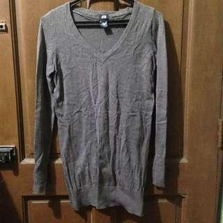 H&M Knitted Sweater (Dark Gray)