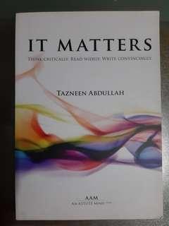 🚚 IT matters by Tazneen Abdullah