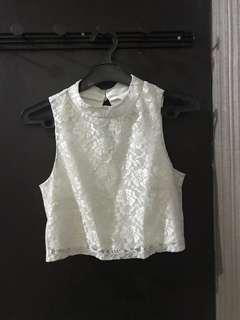 White Lace Top (crop top)