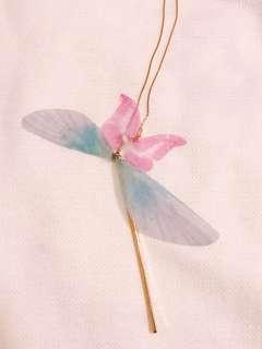韓國 蝴蝶金色頸鏈