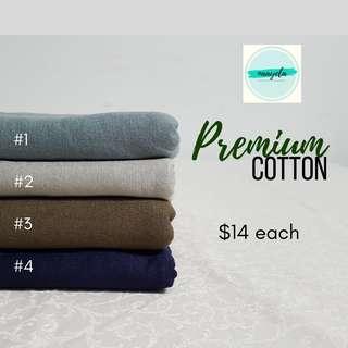 PREMIUM COTTON JERSEY shawl