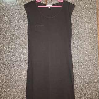 🚚 Black Sleeveless Dress