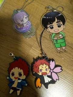 Authentic anime acrylic key chain / rubber straps