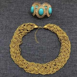 Accessories Bundle Gold Torquoise