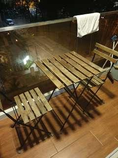 🚚 IKEA balcony table and chairs