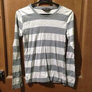 Dorothy and Perkins Striped Sweater (Gray & White)