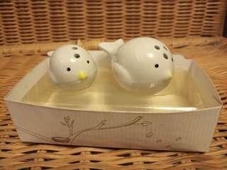 Ceramic Bird salt & pepper shakers 調味陶瓷樽仔