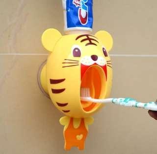 卡通造型 自動擠牙膏器