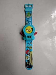 Original angry bird children watch with shooting bird children toy