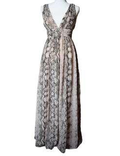 H&M snake print maxi dress