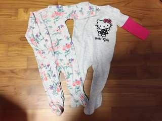 🚚 Carters and Kitty sleepsuits
