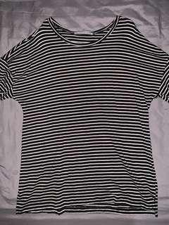 pull & bear striped tee